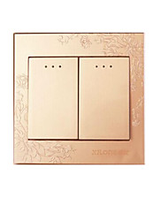 Champagne Gold Two Open Double Control Wall Switch Panel