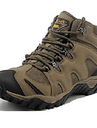 Hiking Shoes Men's Athletic Shoes Leather Spring Fall Winter Outdoor  Flat Heel Brown Khaki Under 1in