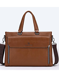 Men Cowhide Tote Brown