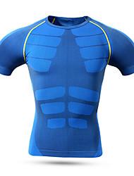 Esportivo Camisa para Ciclismo Homens Manga Curta Moto Respirável / Secagem Rápida / Confortável Blusas Nailom / Náilon Chinês / LYCRA®