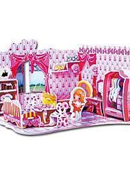 Educational 3D Model Puzzle Jigsaw Sweet Bedroom DIY Toy 56 Pcs