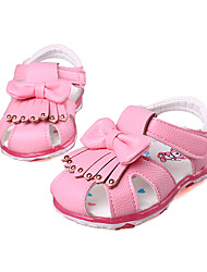 Girl's Sandals Summer Sandals PU Casual Flat Heel Bowknot Pink / Red Others