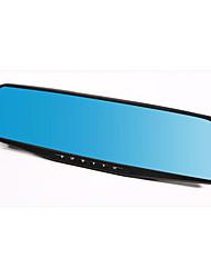 miroir voiture enregistreur double lentille 1080p HD bleu miroir grand-angle enregistrement du cycle de vision nocturne de 4,3 pouces