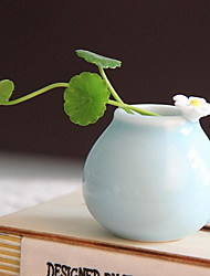 Handmade Mini Jingdezhen Ceramic Vase Home Decoration Creative Flower Pot Photography Props (Random Shape)