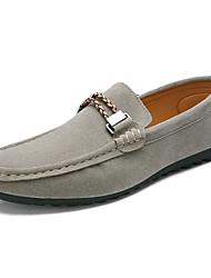 Для мужчин обувь Замша Весна Лето Осень Зима Мокасины Мокасины и Свитер Назначение Повседневные Черный Серый Синий Вино