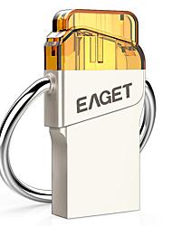 Eaget V80-32G 32 Гб USB 3.0 Ударопрочный / Компактный размер / Поддержка OTG (Micro USB) / Водостойкий / Зашифрованный
