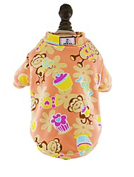 Cat Dog Shirt / T-Shirt Pajamas Dog Clothes Summer Spring/Fall Cartoon Cute Casual/Daily Dark Blue Gray Red Blue Pink