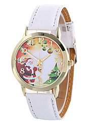 Fashion Girl Quartz Watch Clock Women Leather Casual Dress Women's Christmas Wristwatch Cool Watches Unique Watches