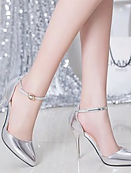 Damen-High Heels-Kleid-Mikrofaser-Stöckelabsatz-Komfort-Silber / Gold