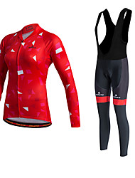Miloto® Cycling Jersey with Bib Tights Women's Long Sleeve BikeThermal / Warm / Quick Dry / Fleece Lining / Moisture Permeability /