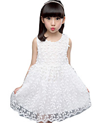 Girl's Casual/Daily Solid Dress Summer White