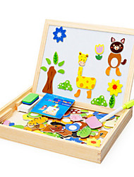 Animal Scenes Spell Toy Wooden Children Cartoon Stereo Puzzle Board