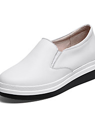 Women's Loafers & Slip-Ons Spring / Fall Creepers Leather Casual Platform Others Black / White Others