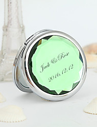 Personalized Wedding Gift Alloy Practical Favors-1 Compacts Classic Theme Silver