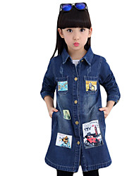 Girl's Casual/Daily Print Jeans,Others Winter / Fall Blue