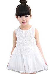 Vestido Chica de-Noche-Un Color-Otros-Verano-Blanco / Gris