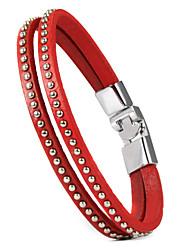 Schmuck Inspiriert von Cosplay Cosplay Anime Cosplay Accessoires Armbänder Schwarz / Rot PU Leder Mann / Frau