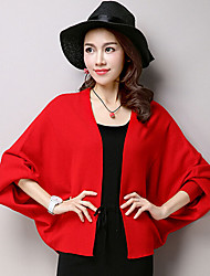 Women's Wrap Shrugs Long Sleeve Voile Black / Yellow / Gray / Red Wedding / Party/Evening / Casual Shawl
