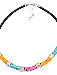 Necklace Pendant Necklaces / Chain Necklaces Jewelry Wedding / Party / Daily / Casual / Sports Sexy / Fashionable Alloy / Leather / Nylon