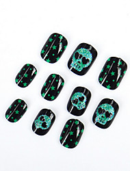 The New Halloween Ghost Head Fake Nails Adult Children General Environmental Nail Strips  20Pcs/Set