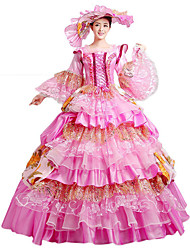 One-Piece/Dress Gothic Lolita / Sweet Lolita / Classic/Traditional Lolita / Punk Lolita Steampunk® Cosplay Lolita Dress Pink Floral