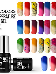 Nail Polish Gel UV 7ml 1 soak Off / Purpurina / Gel de Côr UV / Cintilante / Gelinho / Neutro Mergulhe off de Longa Duração
