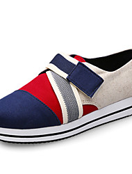Women's Flats Spring Mary Jane Canvas Outdoor Flat Heel Others Blue / Red / Royal Blue Others