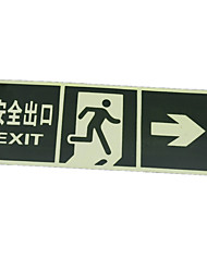 Fire Safety Exit Signs Indicating Directions Ming Signs Pvc Wall Stickers  A Pack Of Three To Buy A Packet Of A