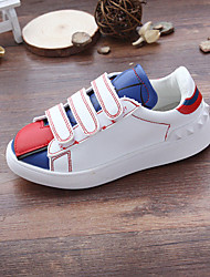 Girl's Sneakers Fall Comfort PU Casual Flat Heel Magic Tape White Others