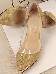 Damen-High Heels-Outddor-PU-Stöckelabsatz-Absätze-Silber / Gold