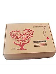 huit 340mm * 260mm * 40mm boîtes arbre amour section e fosse emballage mince par paquet