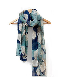 New Winter Voile Scarves Lady Hit Color Large Flowers Scarf Shawl Dual