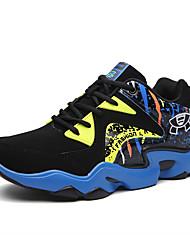 Femme-Extérieure / Décontracté / Sport-Bleu / Noir et rouge / Noir et blanc-Talon Plat-Confort-Chaussures d'Athlétisme-Daim / Tulle