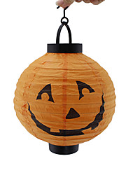 1PC Halloween Pumpkin Lamp Luminous Paper Lantern Portable Lantern Venue Layout Props Halloween  Lighting