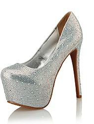 Women's Heels Styles / Round Toe Glitter Wedding / Party & Evening / Dress Stiletto HeelCrystal /