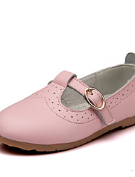 Girl's Boat Shoes Spring Fall Leather Outdoor Flat Heel Others Black Pink Red White Walking