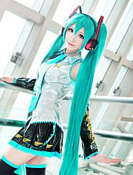 Hatsune Miku cosplay peruca longa duração cor verde de alta qualidade da moda temperatura estilo bateu perucas custume dia das bruxas