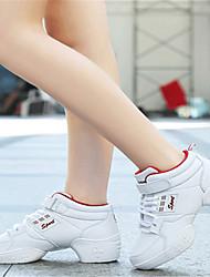 Damen-Sneaker-Lässig-Leder-Flacher Absatz-Komfort