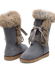 Women's Boots Fall / Winter Snow Boots / Round Toe Leatherette/ Casual Platform Black / Gray / Almond Snow Boots