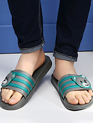Women's Slippers & Flip-Flops Summer Slingback Rubber Casual Flat Heel Others Black Blue Brown Gray Others