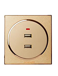 # Sem Fio Others Smart usb socket Dourada