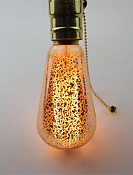 ST64 60w e27 lâmpadas de Edison do vintage lâmpadas incandescentes de filamento luz retro para luminária (AC220-240V)