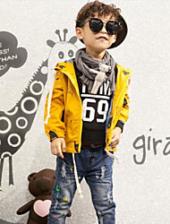 Boy's Casual/Daily Solid Suit & BlazerCotton Spring / Fall Yellow
