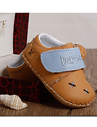 Unisex-Flache Schuhe-Lässig-Leder-Flacher Absatz-Flache Schuhe-Gelb