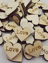 Rustic Wood Wooden Love Heart Wedding Table Scatter Decoration Crafts DIY