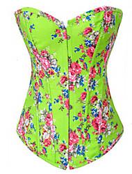 Corset Vêtement de nuit Femme Couleur Pleine Toile de jean Rose / Bleu / Orange / Vert / Noir Aux femmes