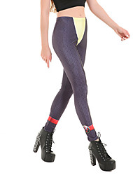 Для женщин С принтами Legging,Полиэстер