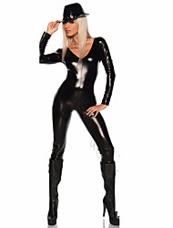 Cosplay Costumes Superstar Movie Cosplay Black Solid Leotard/Onesie / Hat Halloween / Christmas / New Year Female Polyester