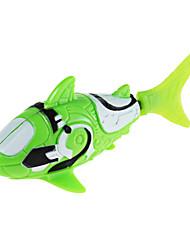 Robo рыба акула стиль электронный рыба игрушка - зеленый + белый (2 х LR44)