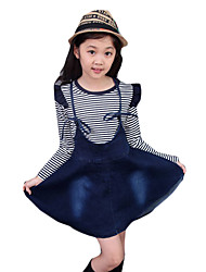 Girl's Casual/Daily Floral DressOthers Summer Black / Blue / White